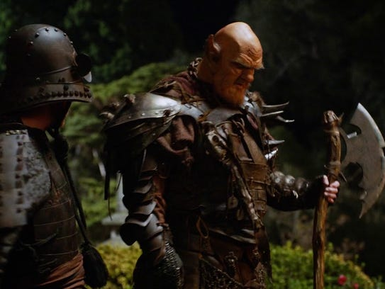 """Ogre on deck! Patrick Cox in a scene from """"The Orville."""""""