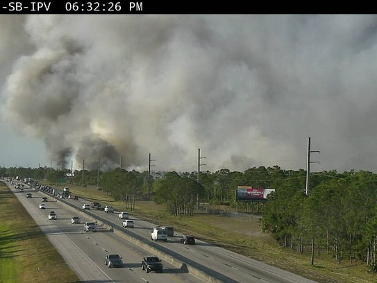 Florida's Turnpike in Port St. Lucie Thursday evening