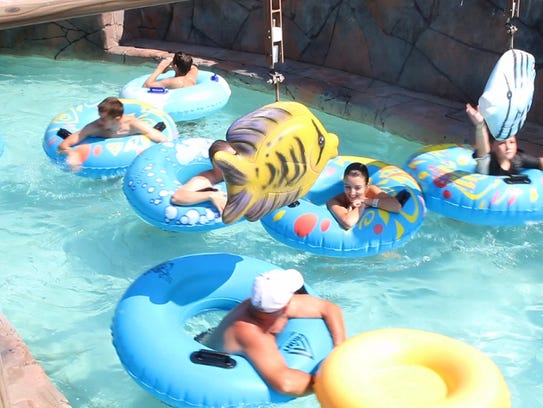 Beat the heat with a ride down the lazy river.