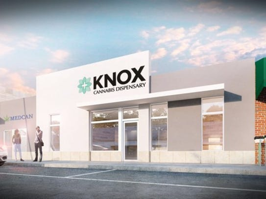 A rendering of the medical marijuana dispensary that