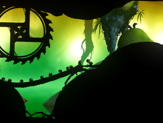 """A scene from the mobile version of """"Badland"""""""