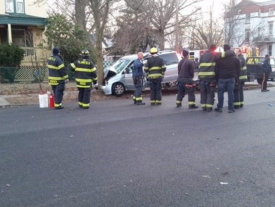 Two-vehicles crashed Wednesday near the intersection
