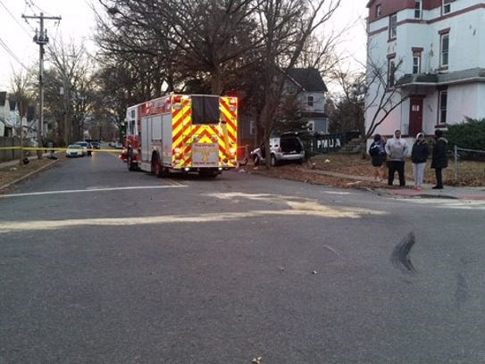 Six people were injured in a two-vehicle crash at the