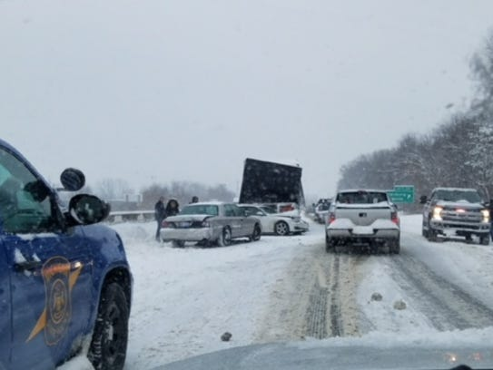 More than 50 vehicles were involved in a crash west