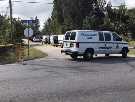 Four crime scene units from the Lee County Sheriff's