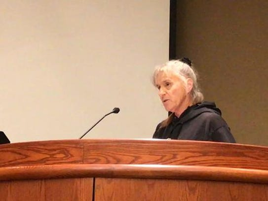 Julie Harmon told the Redding City Council that she and her husband are looking to move out of Redding due to high utility rates.