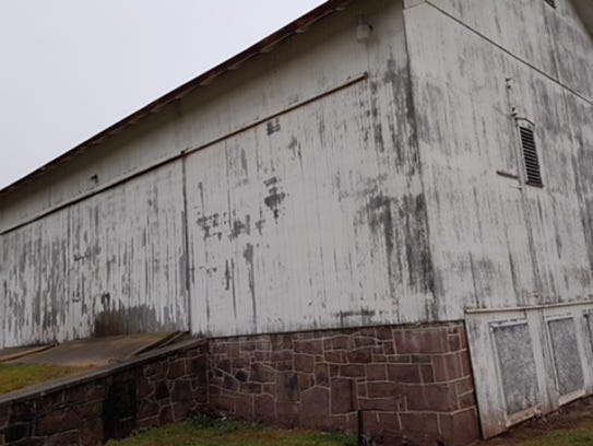 A barn that sits on 49 acres purchased by Dover Twp.