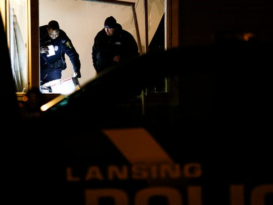 Members of the Lansing Police and Lansing Fire Department