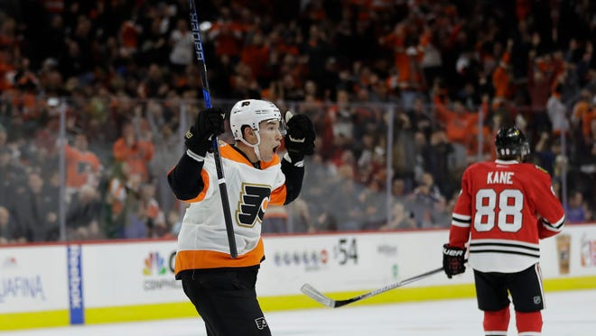 Ivan Provorov scored two goals 31 seconds apart in Saturday's win over Chicago.