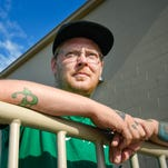 Nathan Anderson, 34, Waite Park, talks Friday, July 15, about putting his bachelor's degree on hold because of his criminal record. Anderson is hoping to be a counselor for drug addiction, but can't obtain an internship because of his convictions.