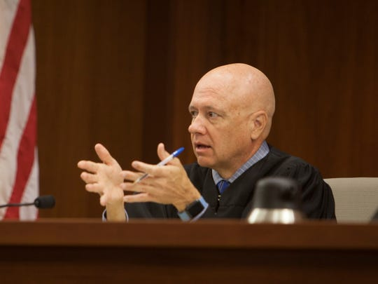 Judge Paul Dame during the preliminary hearing of the