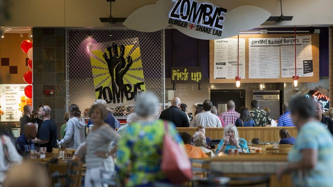 The new Zombie Burger + Shake Lab is open for business in the food court at the Jordan Creek Town Center in West Des Moines, Wednesday, July 22, 2015.
