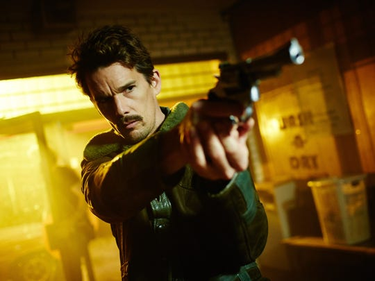 """Ethan Hawke appears in a scene from the film """"Predestination."""""""