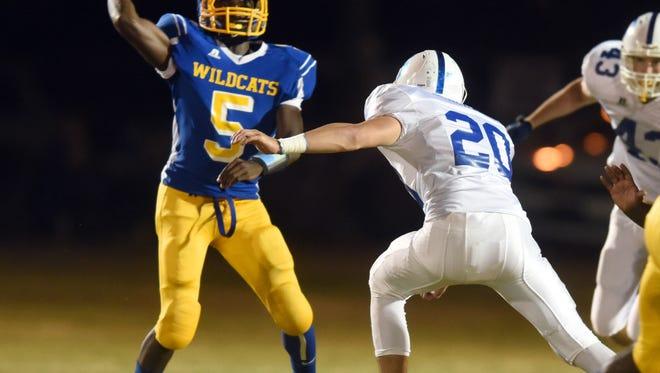 Columbia High School quarterback Ralpheal Luter returns after throwing for 700 yards last season.