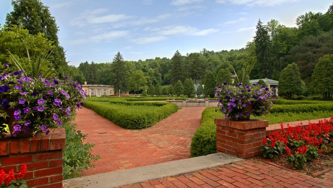 The gardens at West Baden