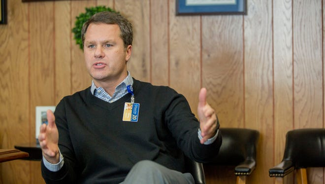 Wal-Mart President and Chief Executive Officer Doug McMillon speaks during an interview in Bentonville, Ark.