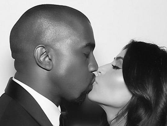 Kim Kardashian and Kanye West (c) Instagram