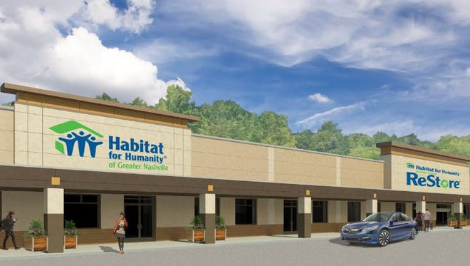 A rendering showing how the former Kmart will look upon completion of renovations.