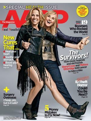 """Sheryl Crow and Melissa Etheridge revisit breast cancer journeys in """"AARP Magazine."""""""