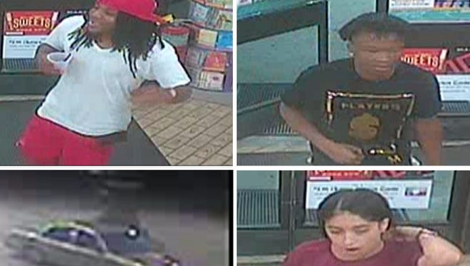 Authorities are asking for the public's help in identifying suspects who held up a south Lee County convenience store and knocked out a clerk Saturday, Oct. 28, 2017.