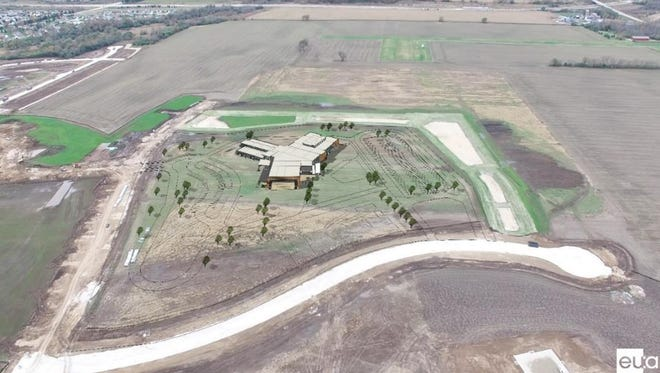 A photo shows the land where the new Meadow View Elementary School will be built. The guaranteed maximum price for the project was approved for $27.32 million, $1.01 million less than the pre-referendum budget.
