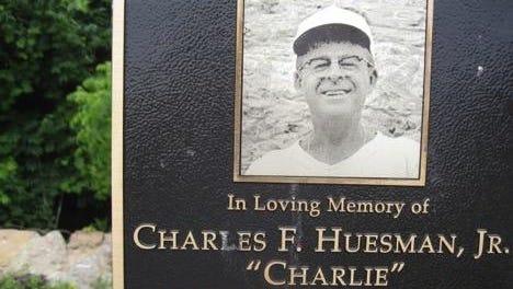 Charles Huesman plaque.
