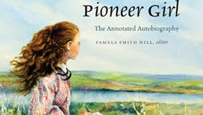 """Judy Thompson's illustration of the cover of """"Pioneer Girl: The Annotated Autobiography"""". The original version of the autobiography, that Wilder likely wrote in the late 1920s, was written on tablet paper with lead pencil. The South Dakota State Historical Society Press plans to publish an annotated version of this fall."""