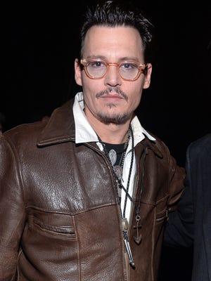 Johnny Depp attends CinemaCon on March 27, 2014 in Las Vegas.