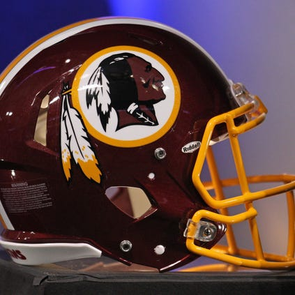 Nov 7, 2013; Minneapolis, MN, USA; A Washington Redskins helmet against the Minnesota Vikings at Mall of America Field at H.H.H. Metrodome. The Vikings defeated the Redskins 34-27. Mandatory Credit: Brace Hemmelgarn-USA TODAY Sports