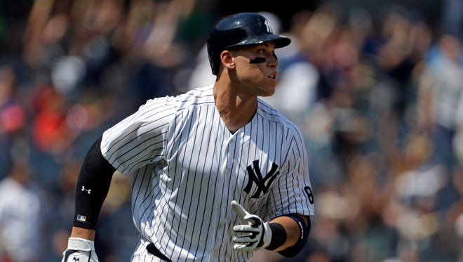 Judge hit a home run in his first major league at-bat on Aug. 13, 2016.