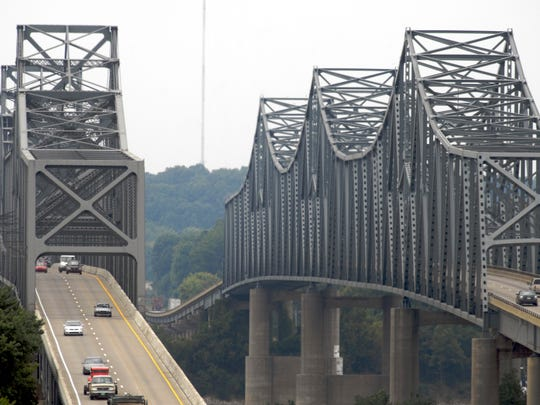 U.S. 41-North Twin Bridges. (Gleaner photo by Mike Lawrence • 831-8346 or mlawrence@thegleaner.com)
