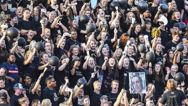 Northwest Rankin fans cheer against Germantown High School during game action Friday in Flowood.