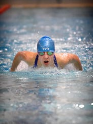 Brookelle Anderson of Northern Lebanon swims the butterfly
