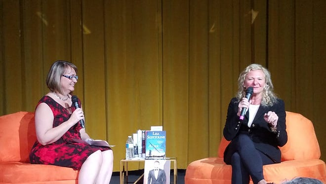 Director of Library Services for Palm Springs Library Jeannie Kays with author Lisa Scottoline