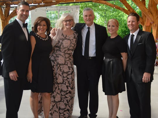 The 2017 Big Event raised $267,000 in support of the Wilson Center's arts education programs. Pictured L-R: Tim and Beth Wnuk (co-chairs), Wilson Center President & CEO Lynn Sprangers and Mike Gousha, and Jessica and Matt Zeratsky (co-chairs).