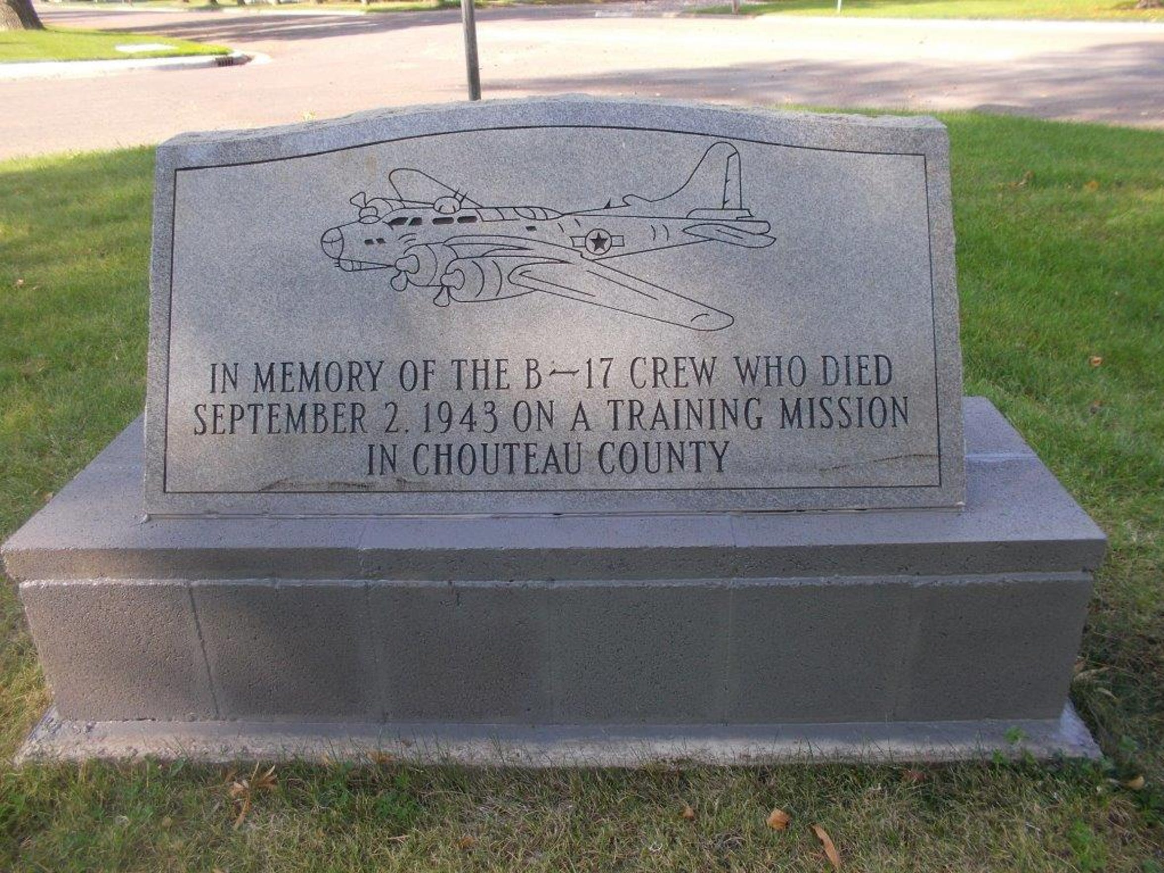 The memorial for the men of Flight 42-5128