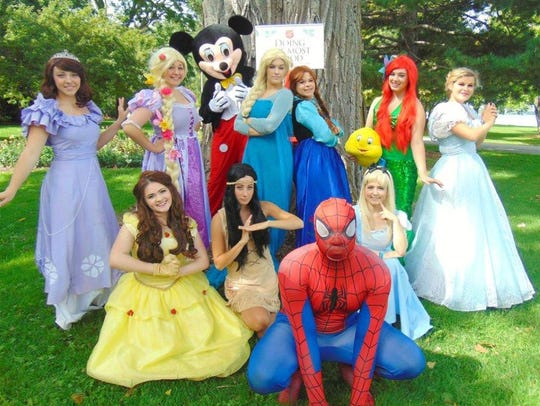 This year, costumed cast members from Princess My Party