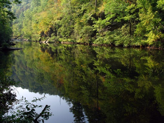 The Tellico River is one of many waterways running