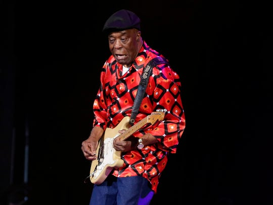 Buddy Guy performs at the Pabst Theater Friday.