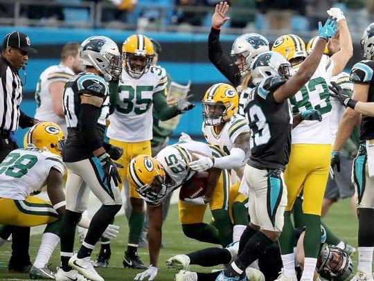 Green Bay Packers defensive back Marwin Evans (25)