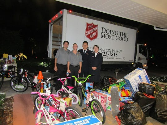 Salvation Army staff prepares to load more than 150