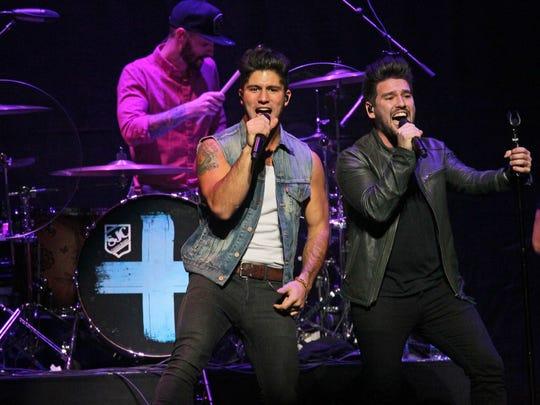 Country pop duo Dan + Shay will headline Fiserv Forum April 11.