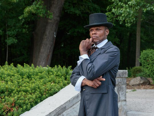 "Dwayne Mack plays ""the Abolitionist"" in Morning Star"