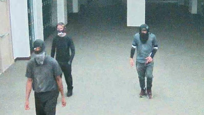 Crime Stoppers says these individuals are responsible for damage at Dunbar High School.