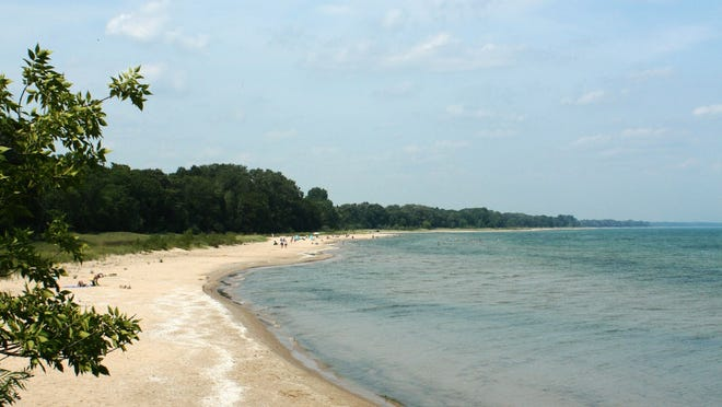 The north beach at Harrington Beach State Park is great for sunbathing.