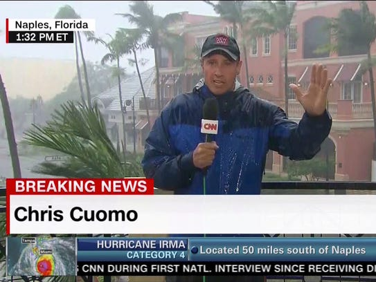 This image taken from video shows CNN's Chris Cuomo