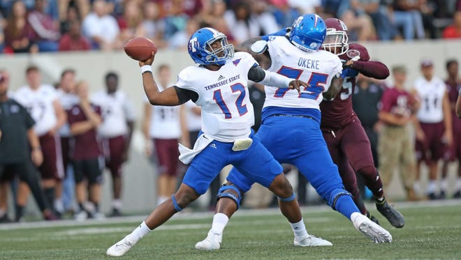 Former Hillsboro quarterback Michael Hughes led Tennessee State to a win at Eastern Kentucky in his first start.