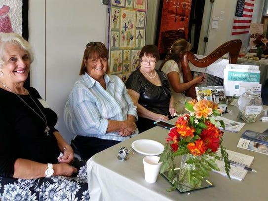Lagoon show greeteers Theresa Prokop, Kathy Gray, Kathleen