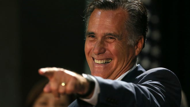 Former Republican presidential nominee Mitt Romney campaigned with U.S. Senate candidate Joni Ernst in Iowa last October. He announced Jan. 30, 2015, that he would not run for president in 2016.