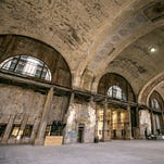 How to get inside the Detroit train station this weekend